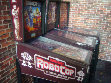 Robocop 1/12th Scale Miniature Pinball Table Model